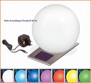 Solarkugel 40 Cm : solar leuchtkugel trendy 40 cm f r innen und au enbereich ~ Watch28wear.com Haus und Dekorationen