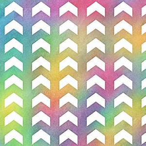 Bright Rainbow Watercolor Split Chevron Pattern 1 fabric ...