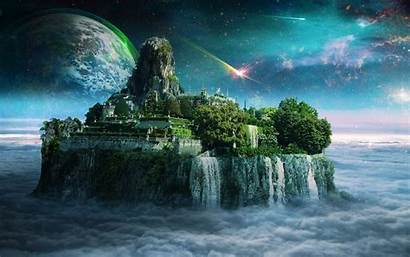 Kingdom Fantasy Floating Island Wallpapers Sky Heaven