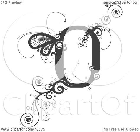 royalty free rf clipart illustration of a vine alphabet letter o by bnp design studio 78375