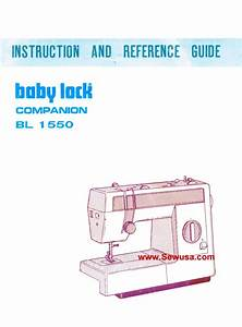 Babylock Model Bl 1550 Instruction Manual Pdf