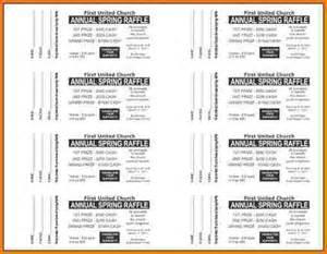 Raffle Tickets Template Free