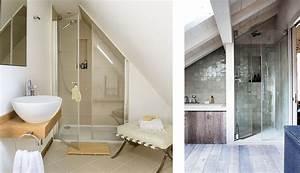 douche sous comble mes combles With porte de douche coulissante avec amenagement salle de bain dans les combles