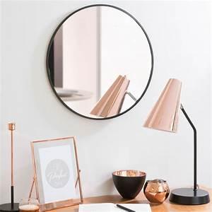 Miroir Metal Noir : miroir rond en m tal noir d 40 cm grazzia maisons du monde ~ Teatrodelosmanantiales.com Idées de Décoration