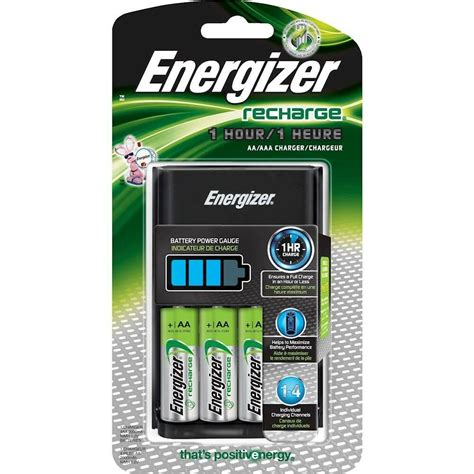 energizer eveready 1 hour recharge battery charger plus 4 aa rechargeable batt 39800128836 ebay