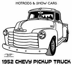old ford truck drawing old trucks pinterest chevy With 1952 ford pick up