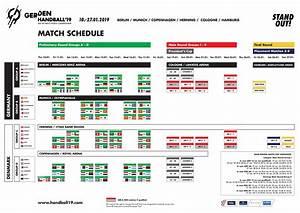 Auftakt In Berlin Handball WM 2019 Spielplan Steht