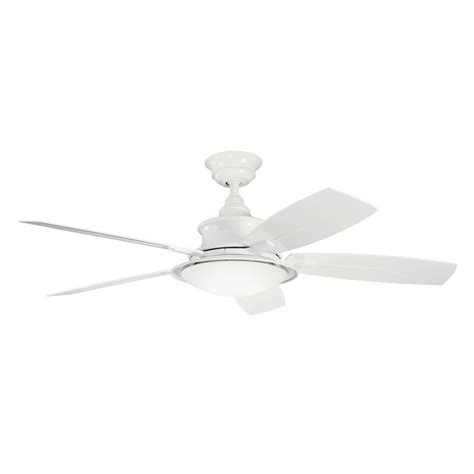 52 white ceiling fan with remote control shop kichler cameron 52 in white standard indoor outdoor