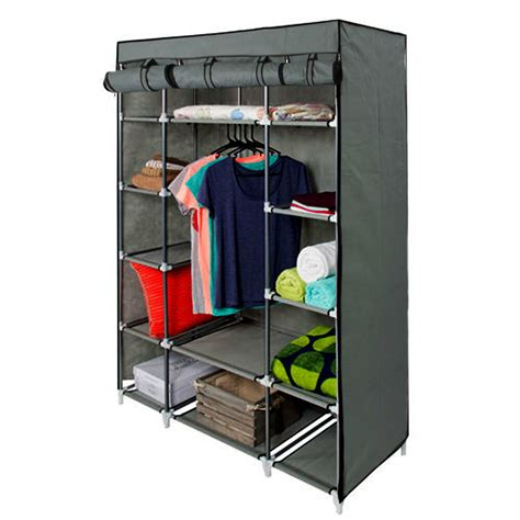 Portable Closet Rack by 53 Quot Gray Portable Closet Storage Organizer Clothes