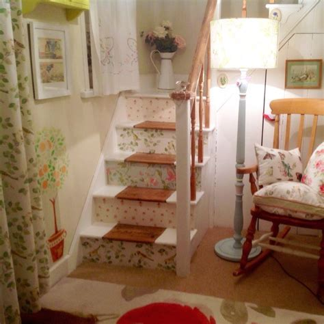 My stairs wallpapered in Laura Ashley prints, Abbeville