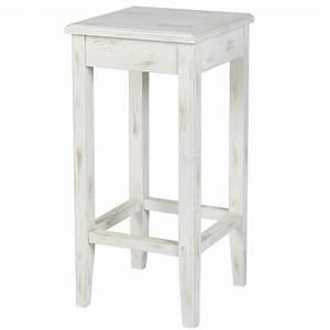 Tabouret bois blanc cuisine en image for Deco cuisine avec chaise bois blanc pas cher