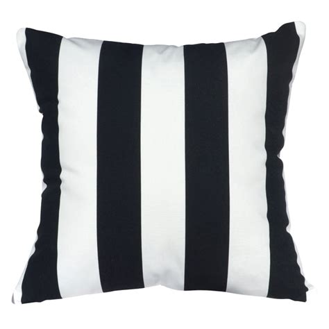 black and white striped cushion cover adorn