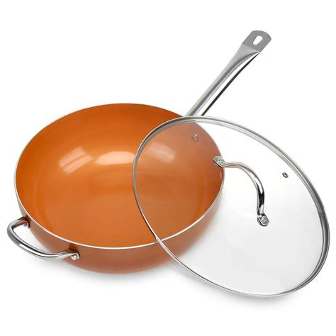 nonstick pans  lids  stick frying cooking pan copper chef cookware ebay