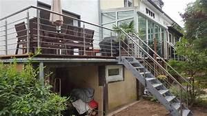 gelander und treppe fur terrasse und garten fun metall With französischer balkon mit treppe zum garten