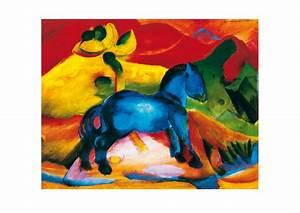 Das Kleine Blaue : franz marc das blaue pferdchen poster kunstdruck bei ~ Lizthompson.info Haus und Dekorationen