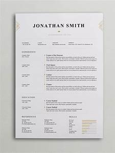 Elegant resume template word psd for Chic resume templates