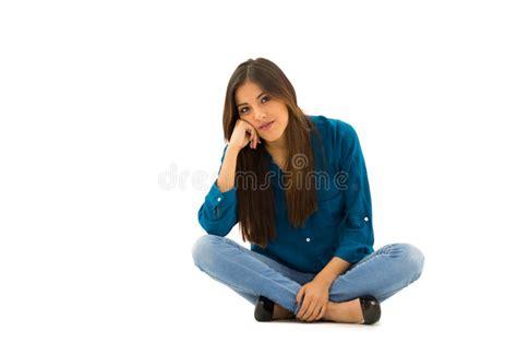 An Elegant Brunette Woman Wearing Comfortable Stock Photo Image Of Female Comfortable