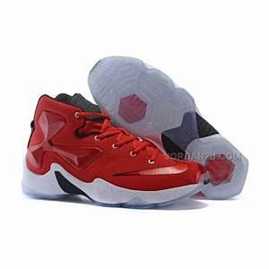 Nike Womens Basketball Sneakers Lebron 13 Red White Black ...