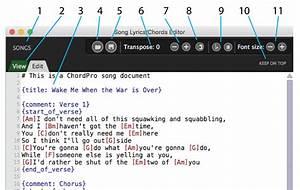 Song Lyrics  Chords Editor