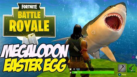 fortnite battle royale megalodon easter egg giant shark