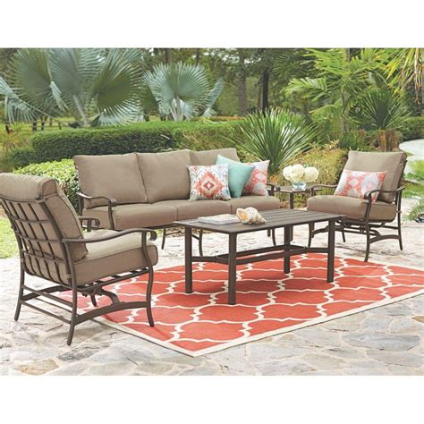Outdoor Patio Seating by Home Decorators Collection Gabriel Bronze 4 Espresso