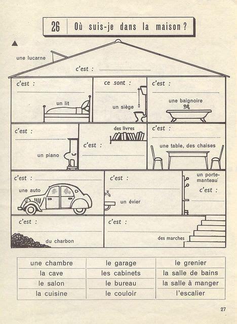 la maison de l horreur exercices de vocabulaire cp 1961 house link and home
