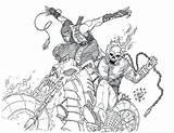 Coloring Mortal Kombat Ghost Rider Scorpion Printable Ghostrider Drawing Skull Colouring Drawings Spawn Sketch Deviantart Getdrawings Soldier Template sketch template