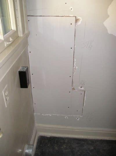 drywall repair repairing large holes   stud