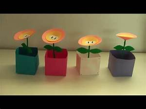 Super Mario Deko : diy feuerblumen super mario nintendo basteln youtube ~ Frokenaadalensverden.com Haus und Dekorationen