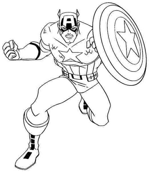 Kaptain Amerika Kleurplaat by Captain America Shield Coloring Page The Defense