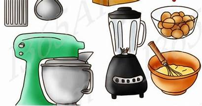 Kitchen Clip Supplies Clipart Graphics Things Blank