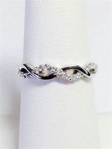 020ct diamond crisscross band infinity style wedding With platinum engagement ring with white gold wedding band