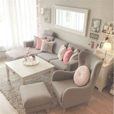 pretty pretty grey pink living room home home