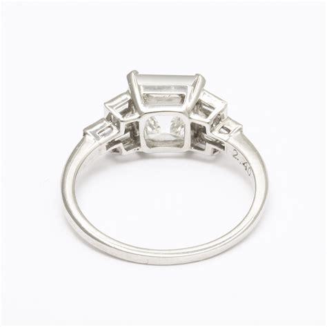 a la vieille russie deco asscher cut engagement ring faberge antique jewelry