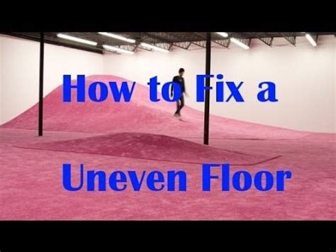 how level does a floor need to be for laminate p3 how to level uneven floors cabin home repair restoration project youtube