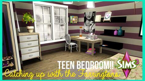 sims  teen bedroom catching