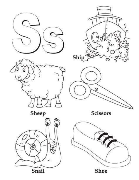 color that starts with an s image detail for coloring page free printable my a to z