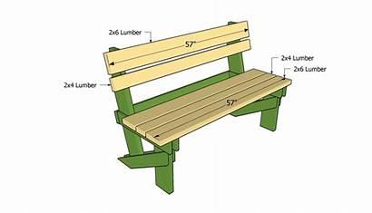 Bench Plans Outdoor Garden Simple Wood Wooden