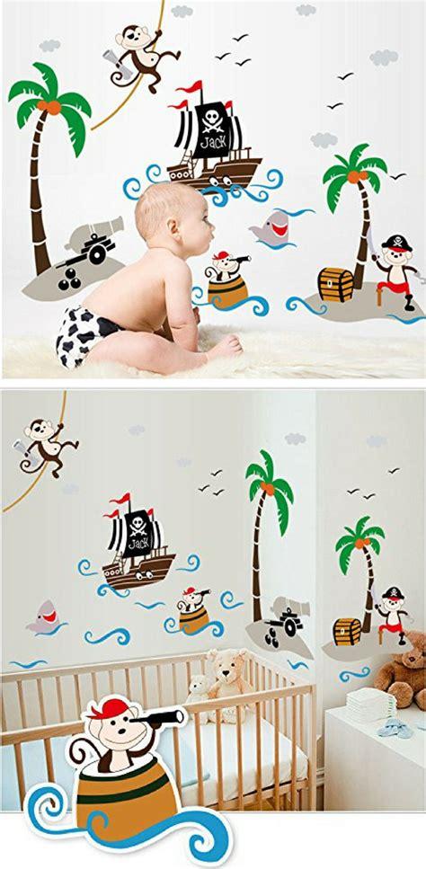 Kinderzimmer Wandgestaltung Pirat pirate room wandtattoo piratenschiff piraten aufkleber