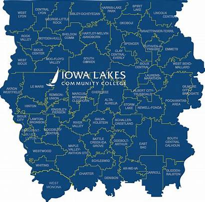 Northwest Iowa Region Stem Lakes Map College