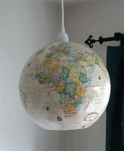 Globe ceiling light travel nursery