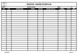 register hazard report action plan o allsafety With hazard risk register template