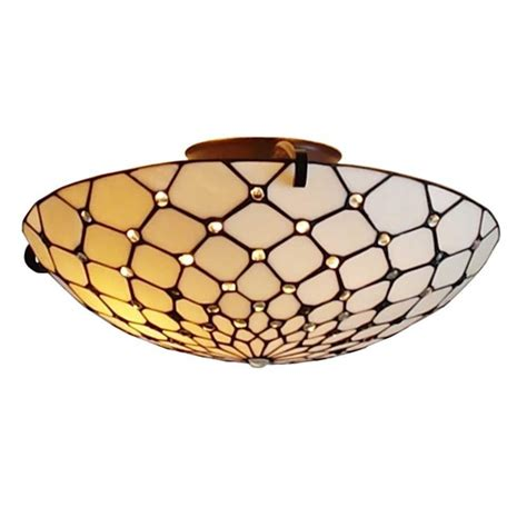 amora lighting 2 light tiffany style ceiling fixture l