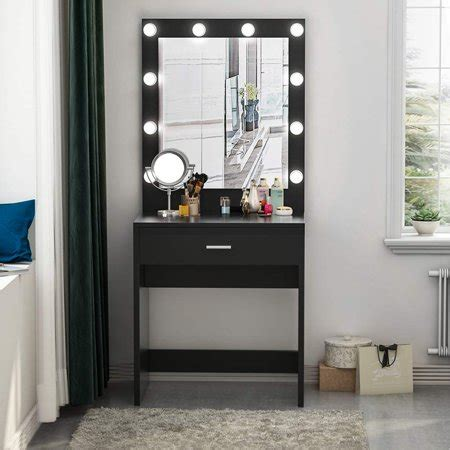 Vanity Desk Mirror With Lights by Tribesigns Vanity Set With Lighted Mirror Makeup Vanity