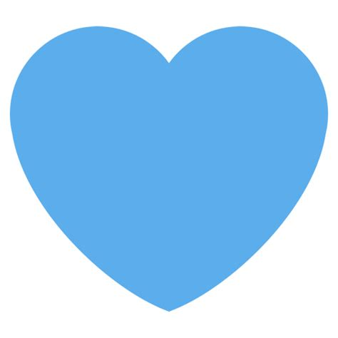 Blue Heart Emoji For Facebook, Email & Sms  Id# 2019