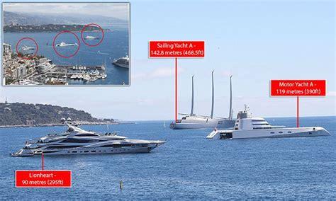 philip greens huge yacht overshadowed  russian yachts