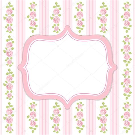 Retro Frame In Shabby Chic Style Stock Vector