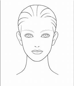 makeup templates face | blank makeup face template | make ...