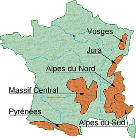 Carte De La Vierge Avec Les Massifs Montagneux by Info Massifs Montagneux Voyages Cartes