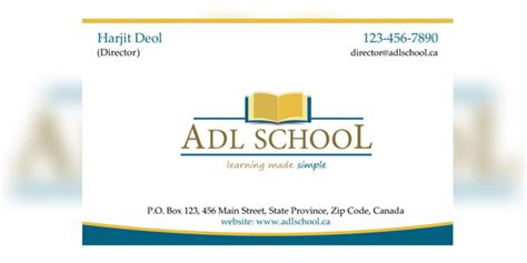 Adl School, Canada Usana Business Card Sample Team Cards Real Estate Scanner App Android Free Beautiful Stand Fca Rules What Is The Size In Illustrator Realtor Wood